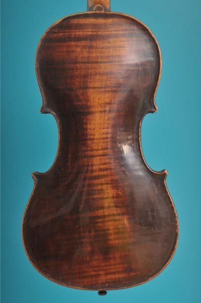 Full size violin, Turner 1820, London, back