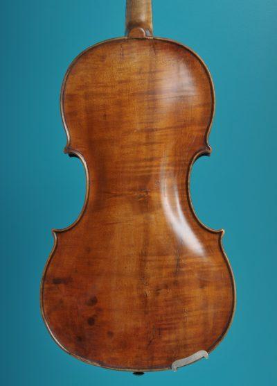 Viola Back, Mathias Albanus fecit in Tirol Bolsani 1693 LOB 38,2 cm De Luthiers Lucienne vioolbouw Dordrecht