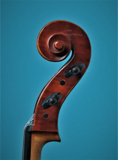 Full size Cello 'Jayhaide' model Stradivari, scroll, Lucienne Vioolbouw De Luthiers Dordrecht