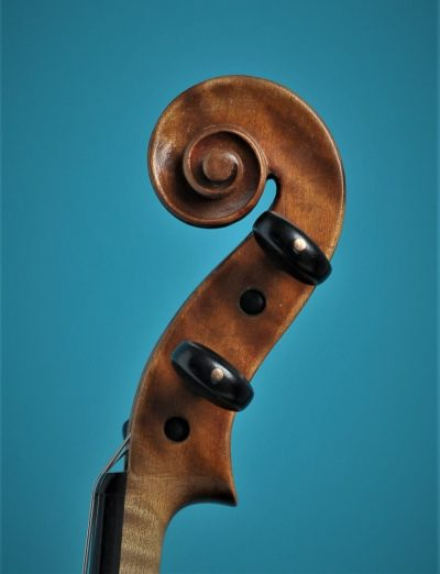 Full size violin L'Arts Atelier 1930, scroll, Lucienne vioolbouw De Luthiers Dordrecht