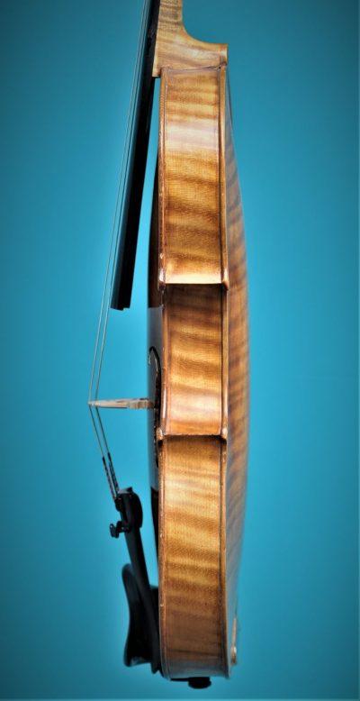 Full size violin, Paul Baily 1906 Paris, side
