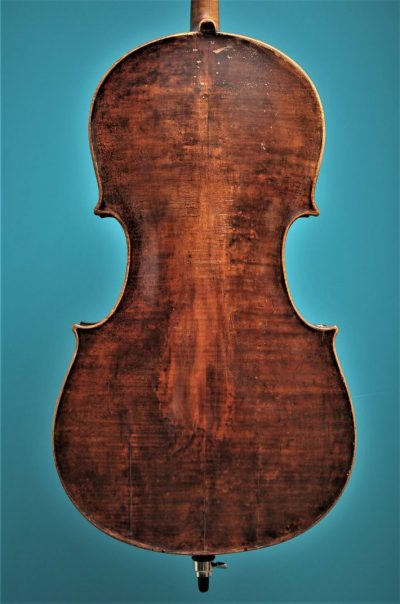 Cello Tyroler Origine, Mittenwald ca.1800, Lucienne Vioolbouw De Luthiers Dordrecht, back