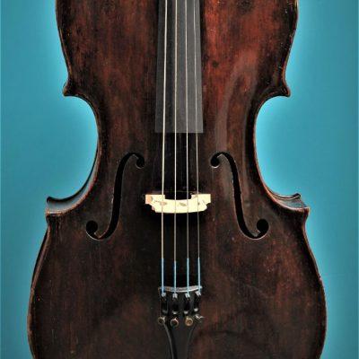 Cello Tyroler Origine, Mittenwald ca.1800, Lucienne Vioolbouw De Luthiers Dordrecht, top