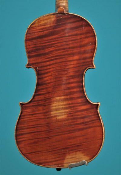 Full size violin Bernardel Paris 19'eeuw Lucienne Vioolbouw Dordrecht back