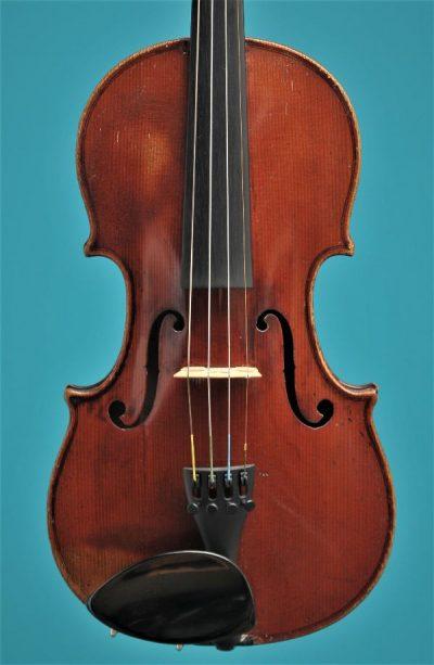Full size violin Bernardel Paris 19'eeuw Lucienne Vioolbouw Dordrecht top