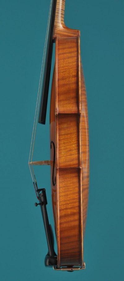 side High Glass violin Aberdeen 1920 Lucienne Vioolbouw De Luthiers Dordrecht