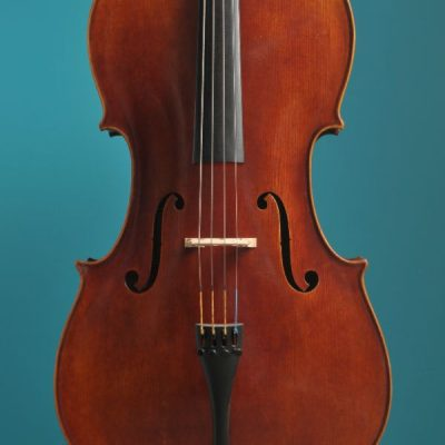 Jay Haide cello Stradivari model antic varnish Lucienne van der Lans Vioolbouw De Luthiers Dordrecht (