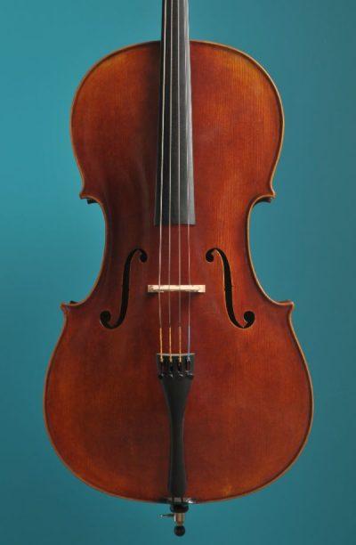 Jay Haide cello Stradivari model antic varnish Lucienne van der Lans Vioolbouw De Luthiers Dordrecht (