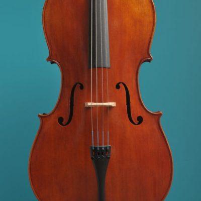 Rudolph cello, amber oilvarnish Lucienne van der Lans Vioolbouw De Luthiers Dordrecht